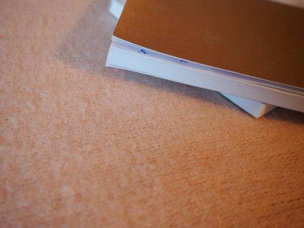 Crisp white pages.